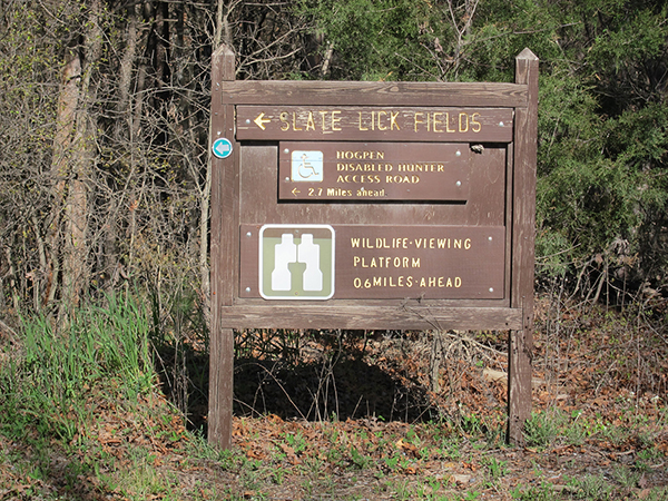 george washington national forest slate lick entrance sign