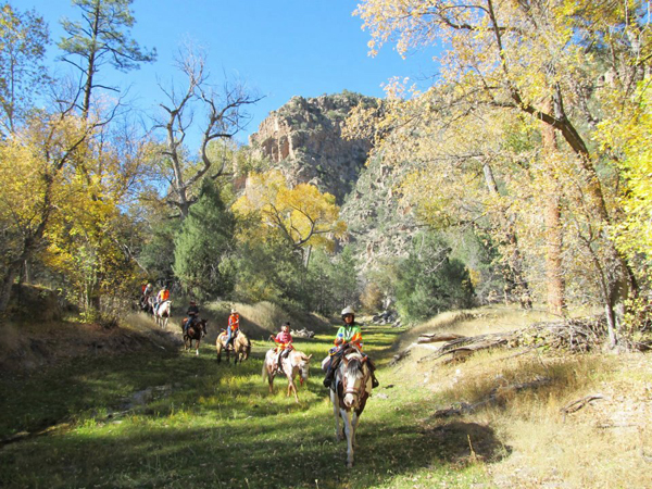 geronimo trail guest ranch nm fall leaves