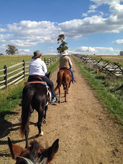 Gettysburg Pennsylvania horseback riding tours