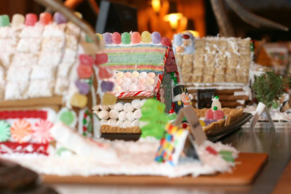gingerbread house resort at paws up