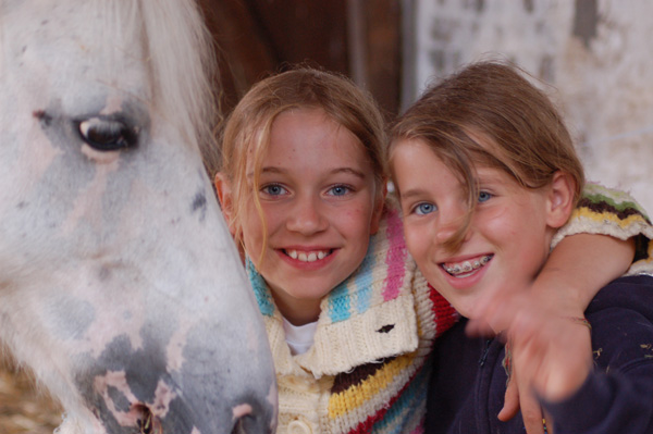equine assisted activities girls with pony