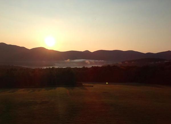 Green Mountain sunrise Vermont Mountain Top Inn