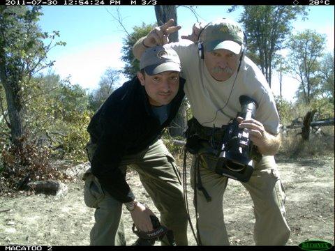 Equitrekking crew on infrared cameras in the Okavango