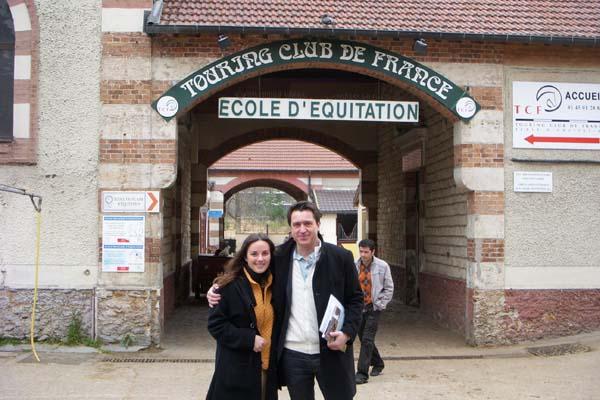 Caroline Maffry with Fabien Grobon
