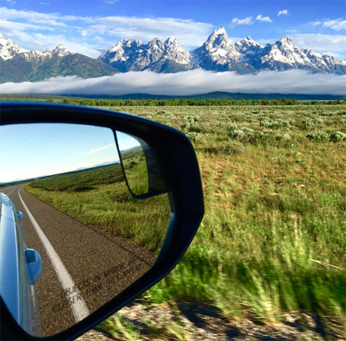 Tetons driving views