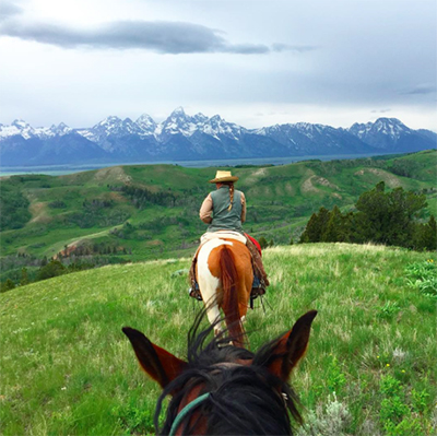 Gros Ventre River Ranch Bridger Teton National Forest horseback