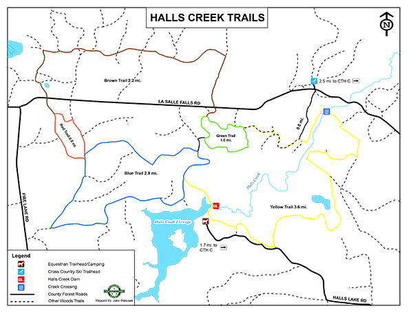 Halls Creek Equestrian Map