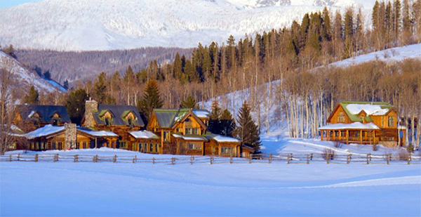 the home ranch in clark colorado in the snow