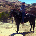 Hondoo riding Utah