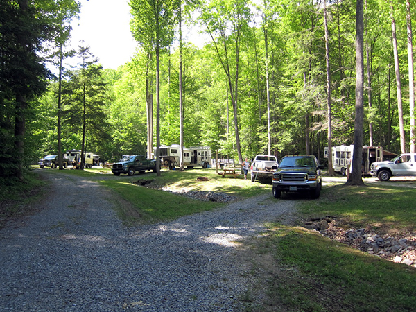 Double C Campground WV horse camping