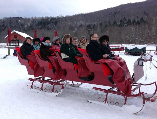 horse drawn sleigh Gentle Giants Vermont