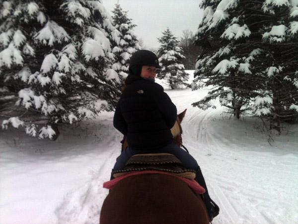 horse riding winter vermont