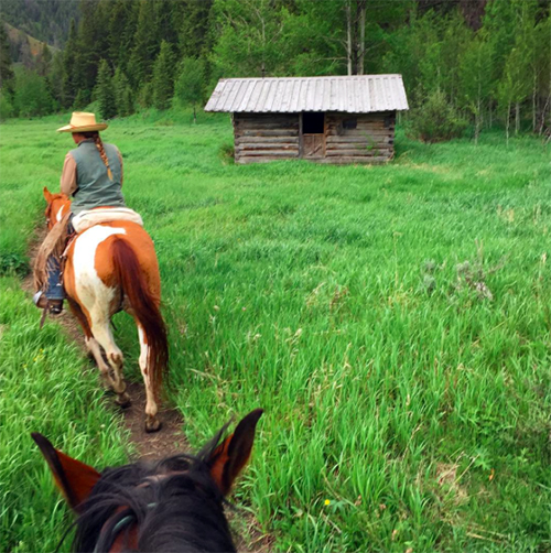 Gros Ventre River Ranch cabin
