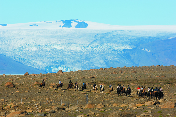 iceland glacier horse riding