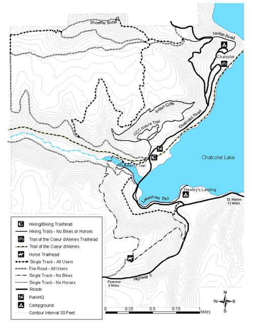 Heyburn Park horse trails map