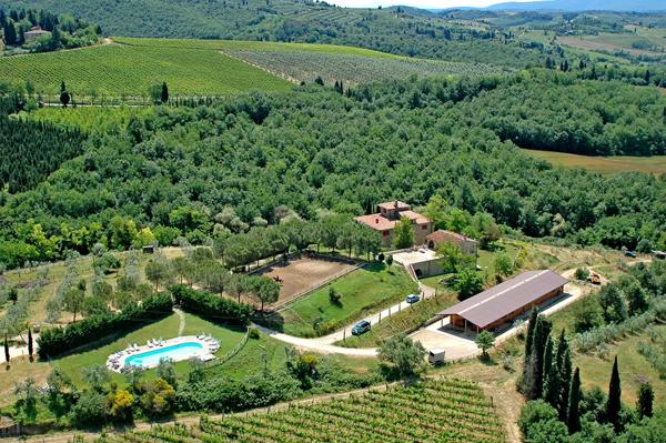 Il Paretaio Aerial View Tuscany Italy