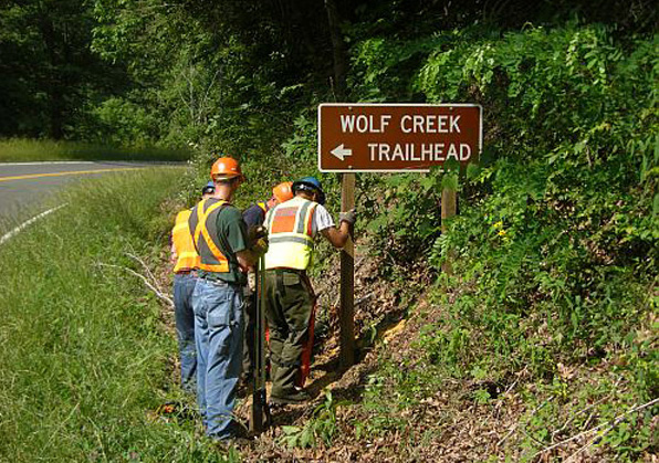 wolf creek trailhead cherokee national forest