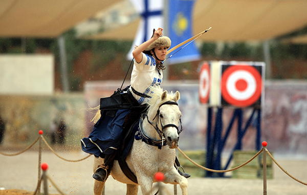 international archery on horseback women amman