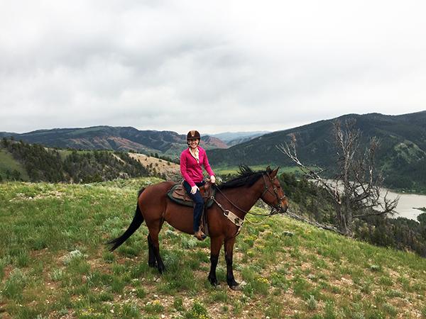 Jackson Hole dude ranch riding Gros Ventre River Ranch