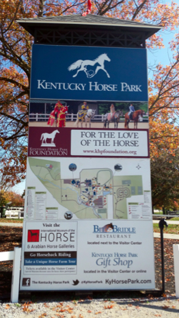 Kentucky Horse Park signs