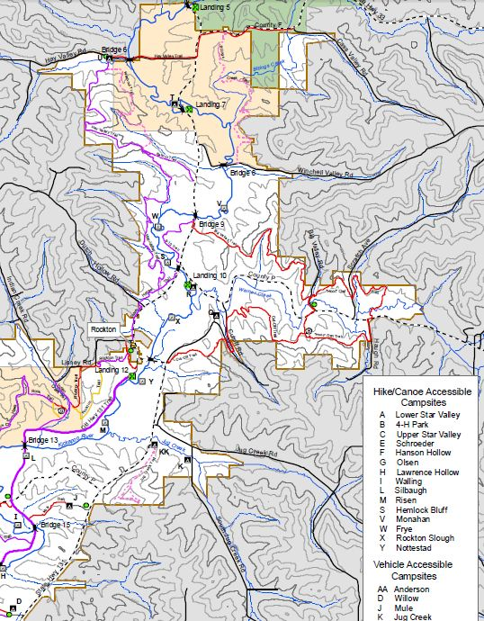 Kickapoo Valley Reserve Horse Trails Map