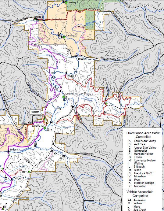 Kickapoo Valley Reserve Horse Trails Map