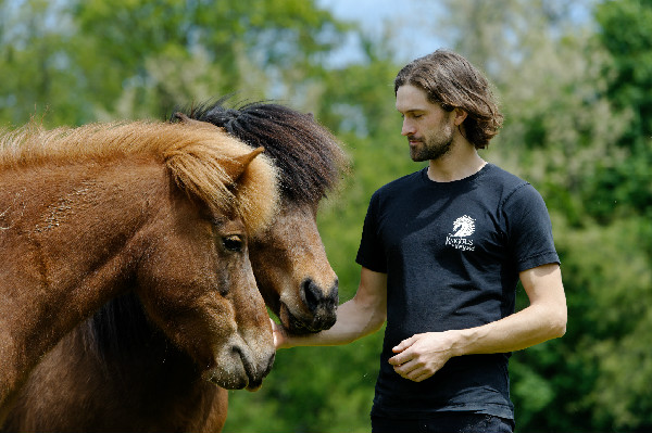 Gudmar Petursson with his Icelandic Horses
