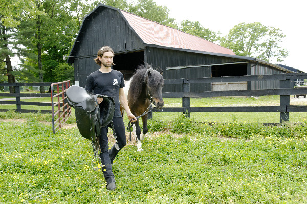 Gudmar Petursson with his Icelandic Horses
