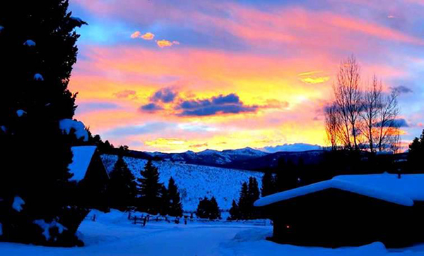 Lone Mountain Ranch Sunset