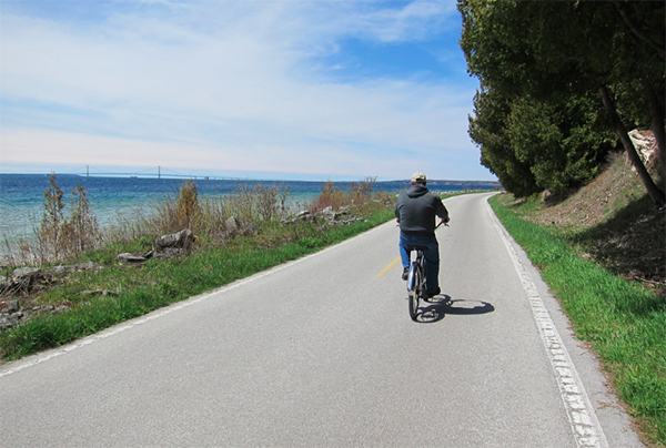 Mackinac biking Michigan