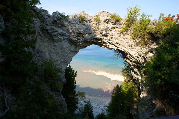 arch rock mackinac island