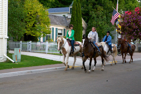 Mackinac Island horse riding with Cindy's Stables