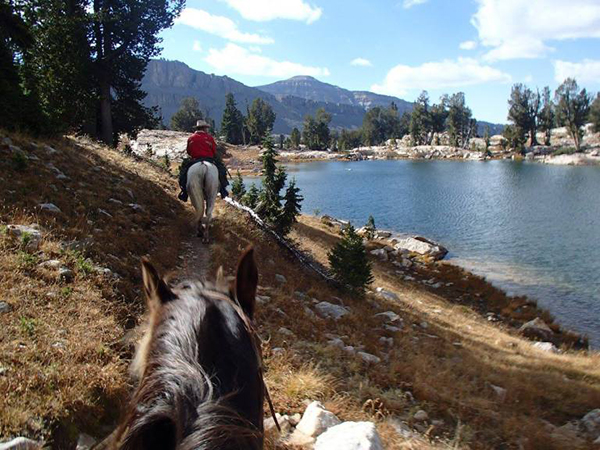 Mirror Lake Alaska horseback