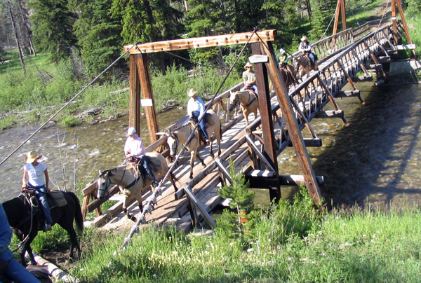 Montana horse pack trips A Lazy H Outfitters
