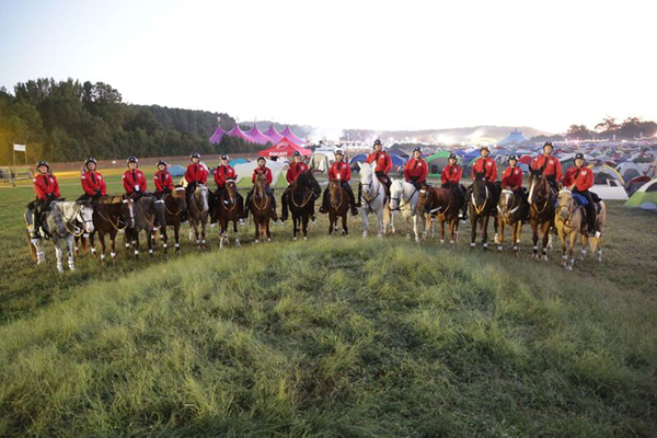 Mounted Patrol Troopers and Horses