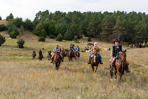 Horseback riding Nebraska open Sandhills country National Forest