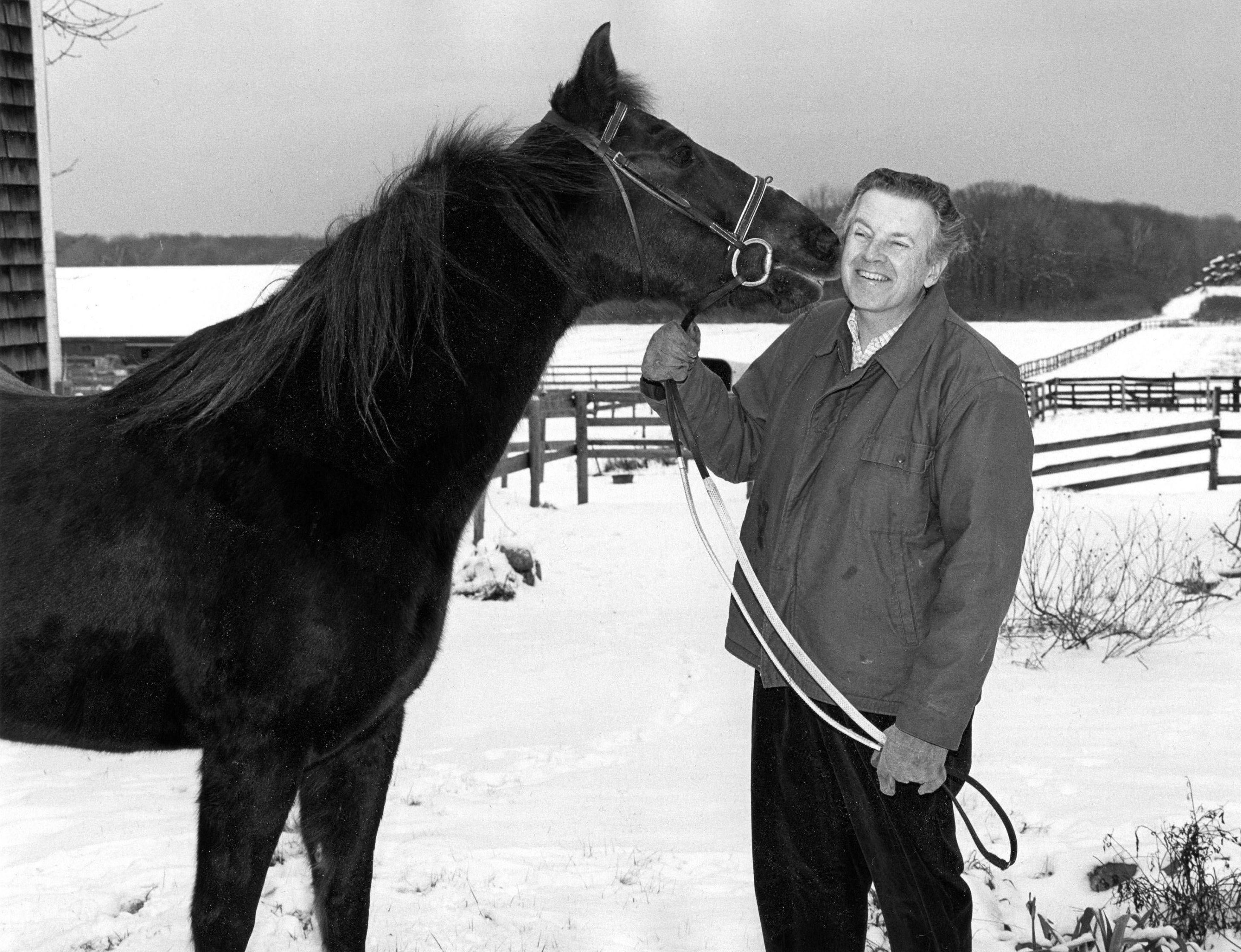 Water's grandfather, Norman, with horse