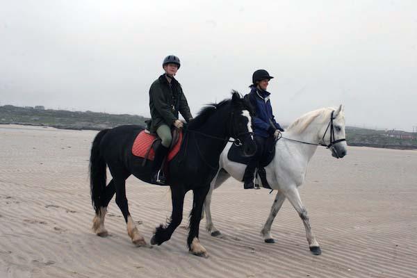 Omey Island horse riding