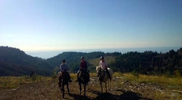 oregon pacific coast horseback riding holidays