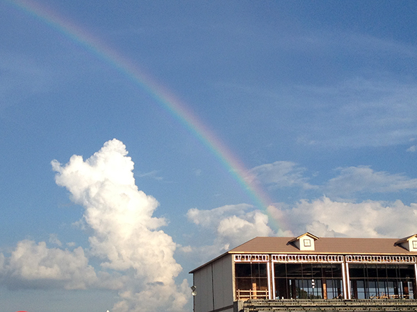 A rainbow over the endurance venue at WEG in Tryon.