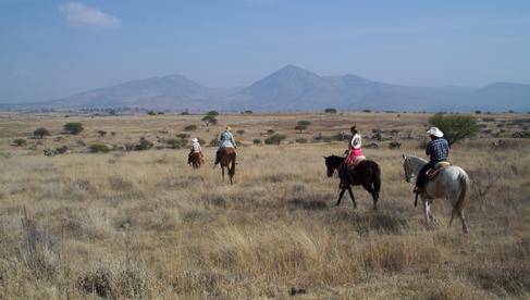 Trail riding at Rancho Las Cascadas