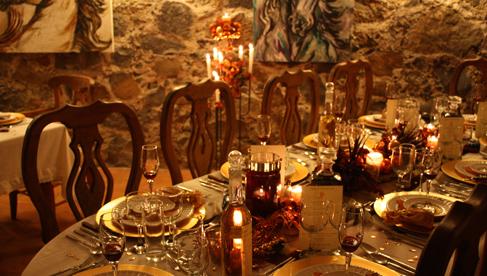 The dining area at Rancho Las Cascadas