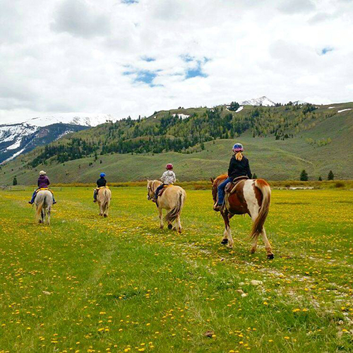 Red Rock Ranch Jackson Hole kids riding