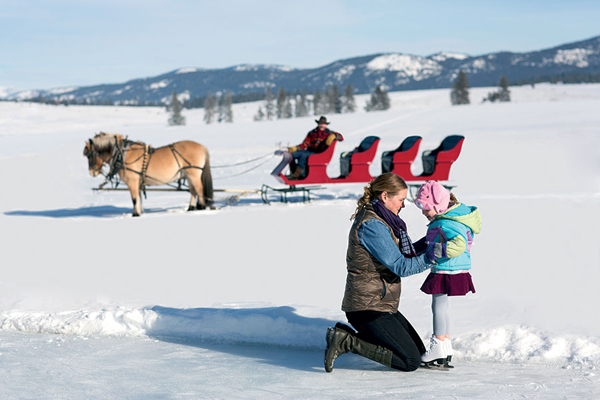 Resort at Paws Up Ice Skating Rink