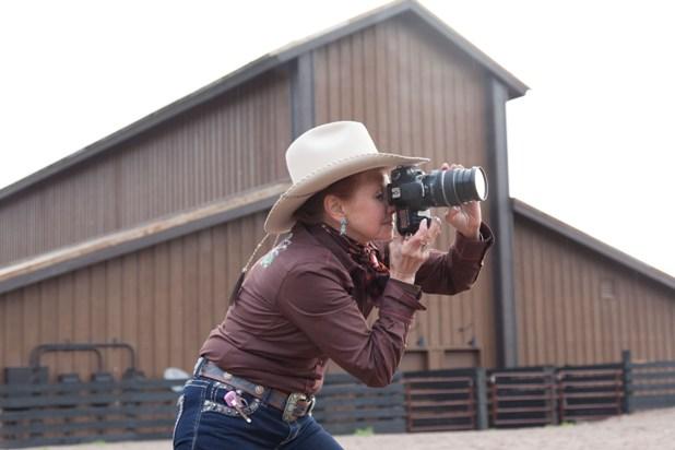 photographer at resort at paws up montana