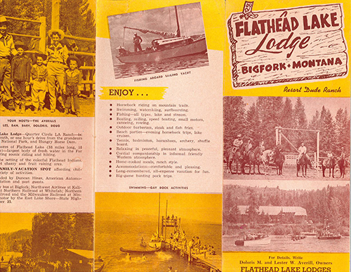 retro dude ranch brochure 1956