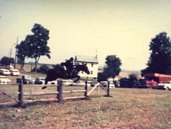 retro equestrian compeition