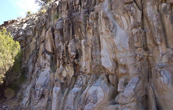 rock walls like paintings