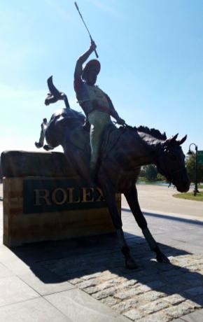 Kentucky Horse Park Rolex statue