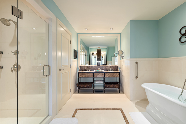dressage room bathroom